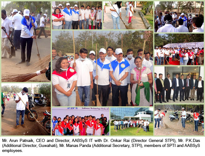 AABSyS IT sponsors and participates in Swachh Bharat Abhiyan, 2015