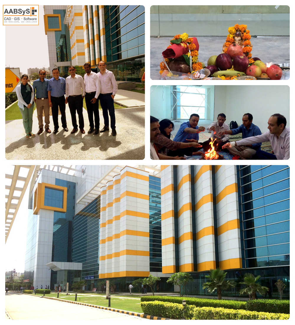 The Directors and Global Sales Team at the new office, Noida