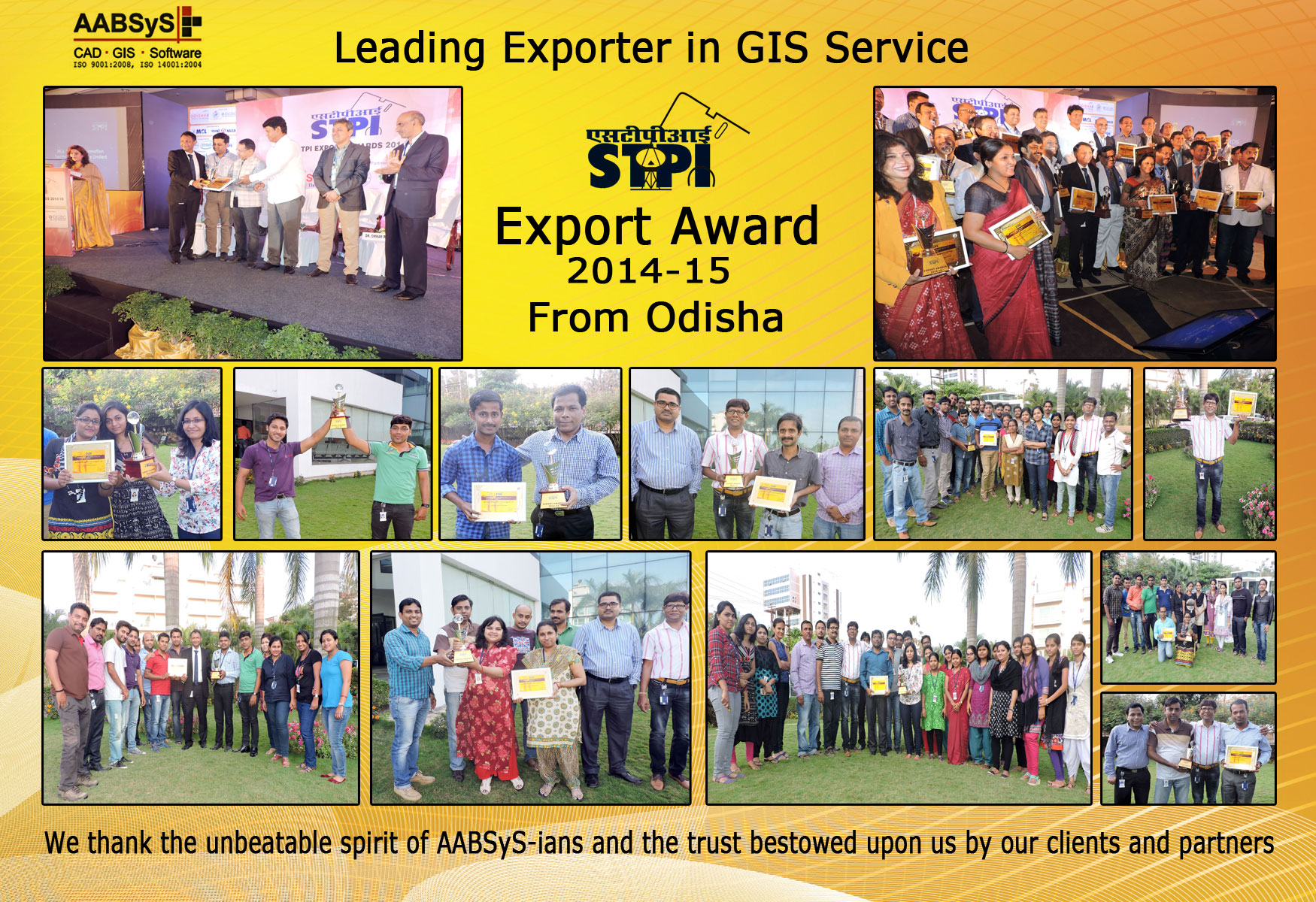 AABSyS Felicitated at the STPI Export Awards 2014-15