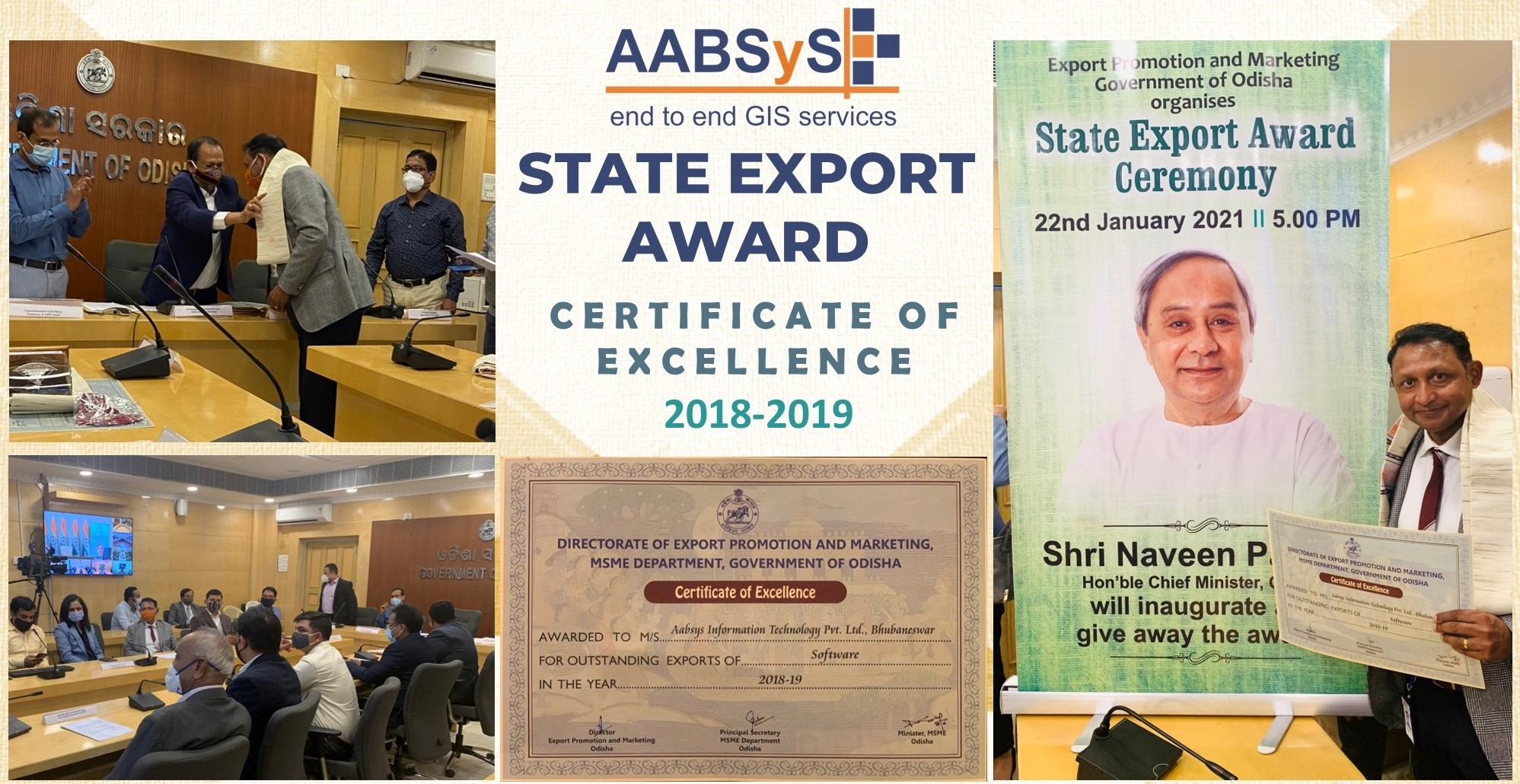 AABSyS IT Wins the State Export Award 2018-19